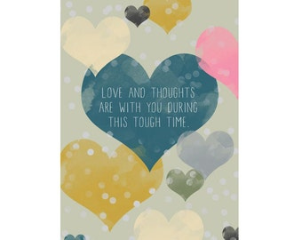 A6 Greeting Card - Love and Thoughts