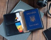 Passport Cover Wallet Horween Chromexcel Black Leather