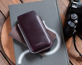 Horween Chromexcel iPhone 6 Leather Case Sleeve Ox Blood Burgundy