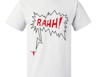 Monster funny t shirt, gift for him, minimal funky tee, halloween present, unusual shirt, RAhh!