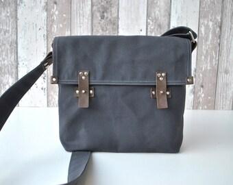 Brown messenger bag water resistant