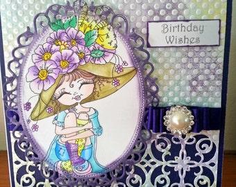 My Besties Image Birthday Card With Handmade Box