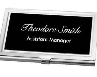 Engraved Business Card Holder, Custom Credit Card Case, Father's Day Gift, Employee Recognition, Corporate Gifts, Personalized Business Card