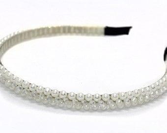 Pearls and Crystals Head Band