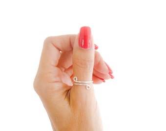 Adjustable Sterling Silver Thumb Ring  Minimalist Jewelry Simple Ring Multifinger Ring For Her