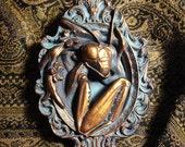 Resin Praying Mantis Frame Sculpture