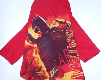 BATMAN Pet Shirt, size Medium.