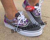 Purple Rhinestone Vans Womens 7.5