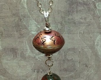 Copper bead necklace