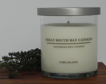 FIRE ISLAND Scented Soy Candle-Natural Soy Wax Candle-Beach Soy Candle