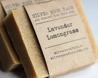 All Natural Lavender Lemongrass Handmade Goat Milk Soap