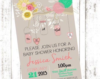 Whimsical Bird Shower Invite