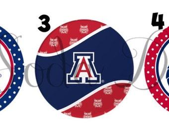 University of Arizona Inspired - Retractable ID Badge Holder