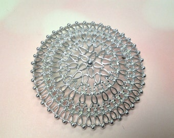 vintage brooch pin costume jewelry flower signrd