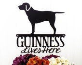 Custom Labrador Name Metal Sign - Black, Dog, Dog Breed, Outdoor Wall Art, Dog Sign, Custom Sign, Personalized Gift