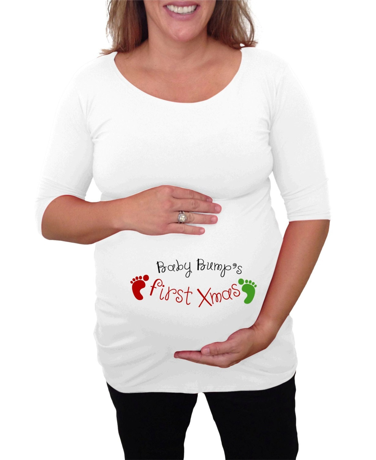 Maternity Christmas Pajamas! you might argue that a new pair of maternity pajamas might be the incentive you need to drag your very pregnant self out of bed at that ungodly hour of the morning.