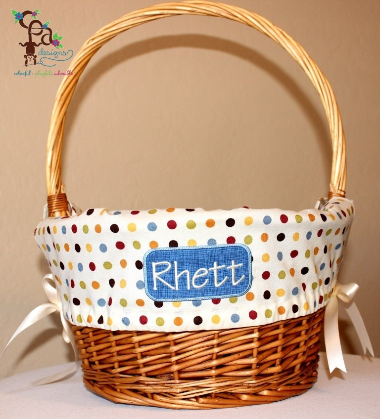 Easter Basket Liners For Boys And Girls Personalized By