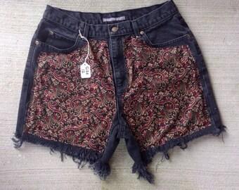 High Waisted Fabric Shorts size 12