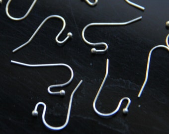 48  pcs of brass ear hook 18x20mm-4526-silver