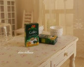Italian Miniature Food, One Packet of Rice, Dollhouse Miniature Handmade, 1:12  Scale Dolls House