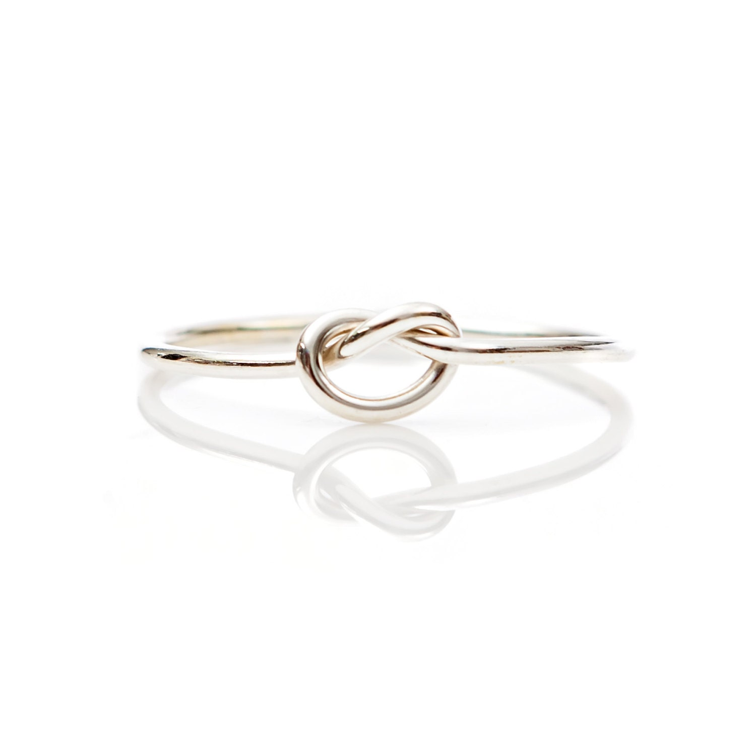 silver knot ring tie the knot sterling silver bridesmaids
