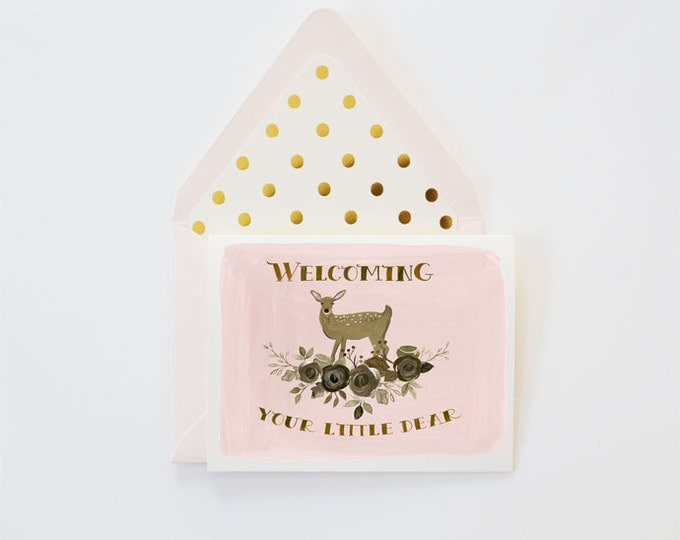 Welcome Little Dear Card