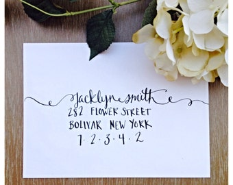 Wedding and Event Swirly Modern Envelope Calligraphy
