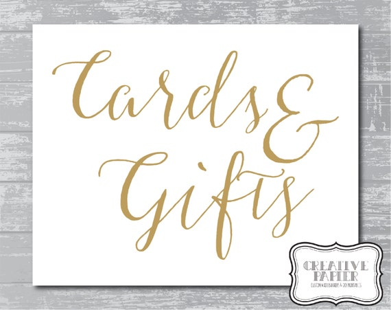 INSTANT DOWNLOAD Cards amp Gifts Sign 5x7 Or 8x10 By
