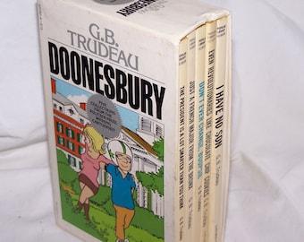 Vintage Doonesbury - Collection set of 5 Books, 1970s comic books, G.B. Trudeau, comic collection