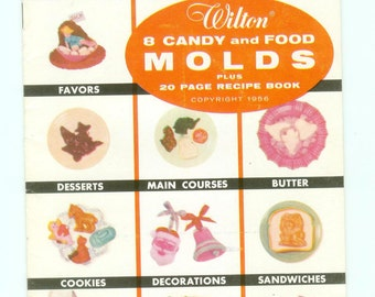 Vintage Wilton Candy & Food Molds 20 Page Recipe Booklet Kitschy Mid-Century Modern Cooking Decorating Entertaining Advertising Cookbook