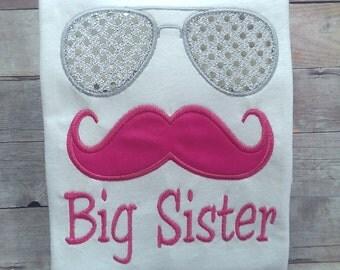 Big Brother Shirt / Big Sister Shirt / Sibling Shirt / Little Sister Shirt / Little Brother Shirt / Mustache Shirt