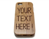 Iphone 7 case wood - wooden iphone 7 case walnut, cherry or bamboo wood - Custom text