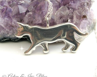 Cat Necklace, Sterling Silver Cat Jewelry, Pet Jewelry, Pet Lovers Gift Idea,