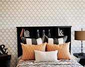 Lovely Gate Wall Stencil Reusable