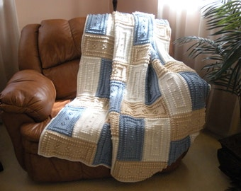 COZY pattern for crocheted blanket.
