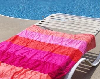Multi Colored Monogrammed Beach Towel