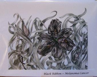 Black Flower Cards (Melanoma)