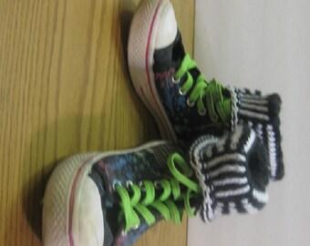 Custom Made Hand Knit Boot Cuffs