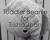 Gray Toddler Beanie for Trisha Jean