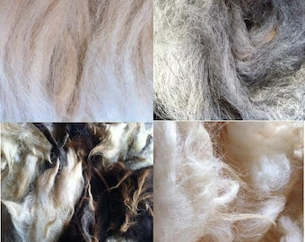 Washed Wool for Craft, Spinning and Stuffing 200g Bundle