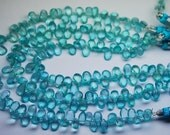 8 Inch Strand, Super Finest Quality,SKY Blue Apatite Faceted Pear Briolettes,Size 6.5-7mm Manufacturers Price