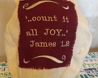327 Count It All JOY Burgundy and Beige Two Toned 100% Linen Snood Cap Head Cover
