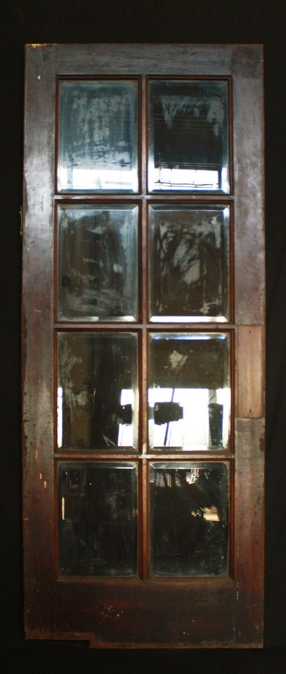 32x80 antique interior french wood swinging door window - Swinging double doors interior ...