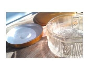 Vintage Vanity Set -Hand Mirror/Jar/Nail File