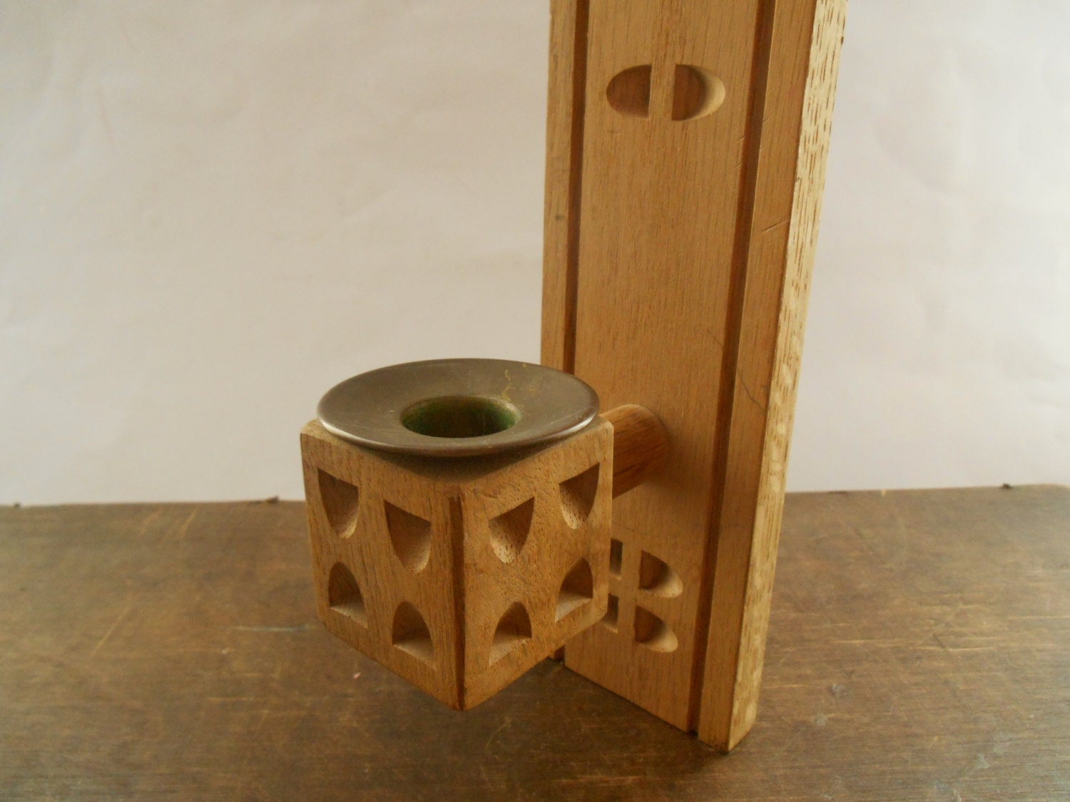 Wood Wall Sconce Candle Holder : Wooden wall candle holder Handmade wall sconce by TasteVintage