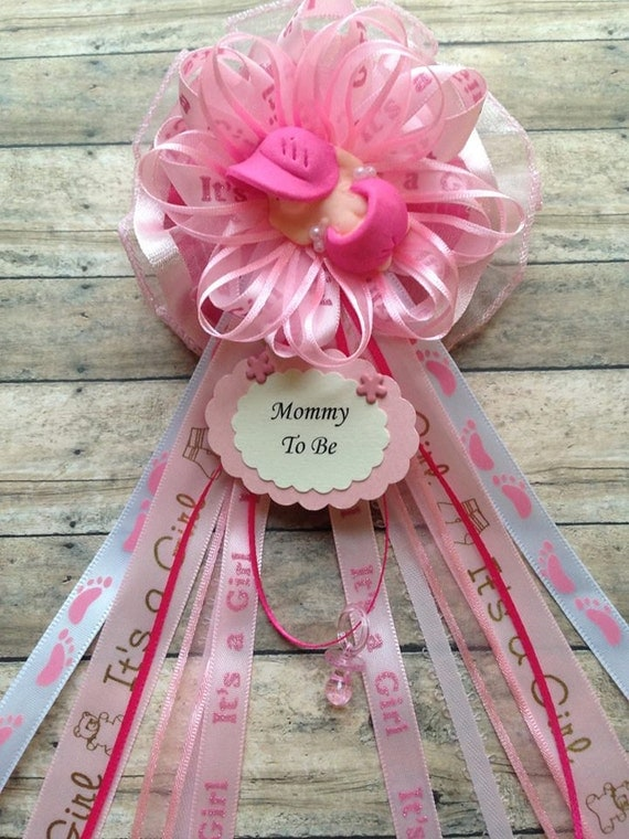 baby shower mommy to be corsage baby sleeping baby shower corsage