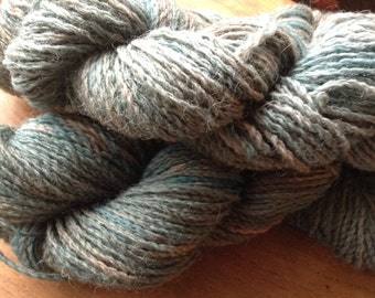 Hand dyed skeins of DK weight pure wool