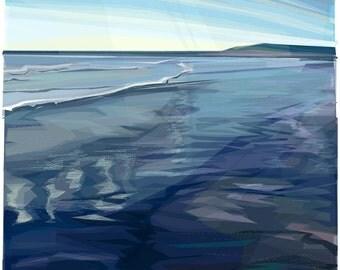 Waters Edge  .. mounted giclee print