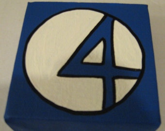 "Marvel The Fantastic Four Canvas Picture 4""x4"""