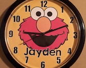 Personalized Elmo Wall Clock